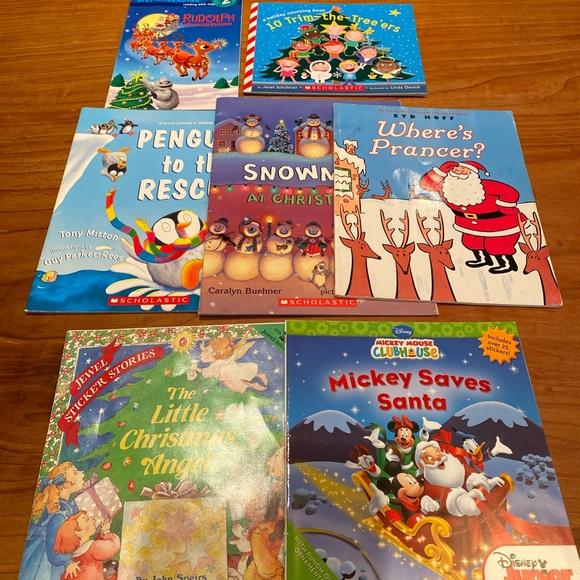 Kids Christmas Book Lot (7 books)